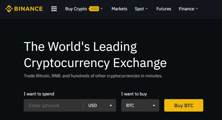 trading cryptocurrency on binance