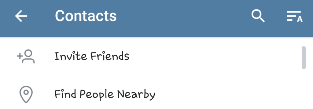 Telegram nearby features